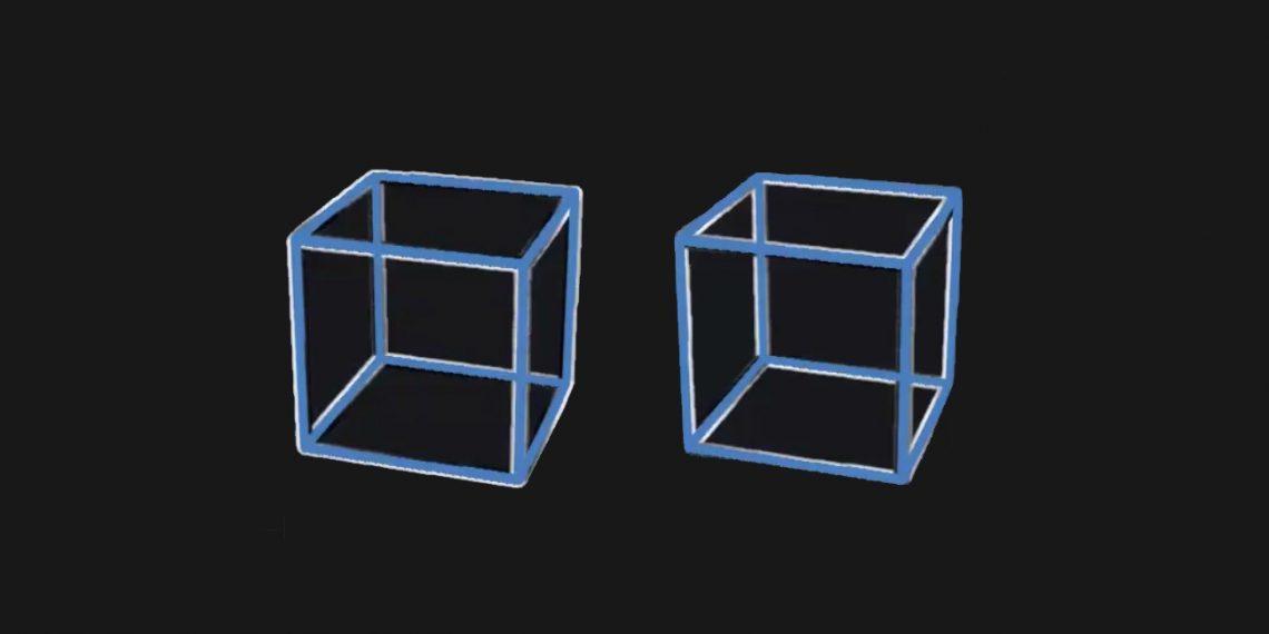 В Сети обсуждают оптическую иллюзию с двумя кубами
