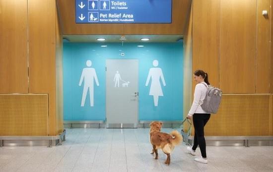 В аэропорту столицы Финляндии открыли туалеты для домашних питомцев