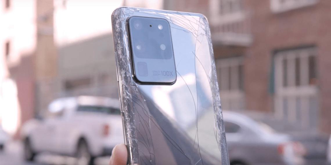 Дроп-тест Samsung Galaxy S20 Ultra