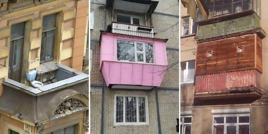 15 ужасных дизайнов балкона: от самосторя до бункера