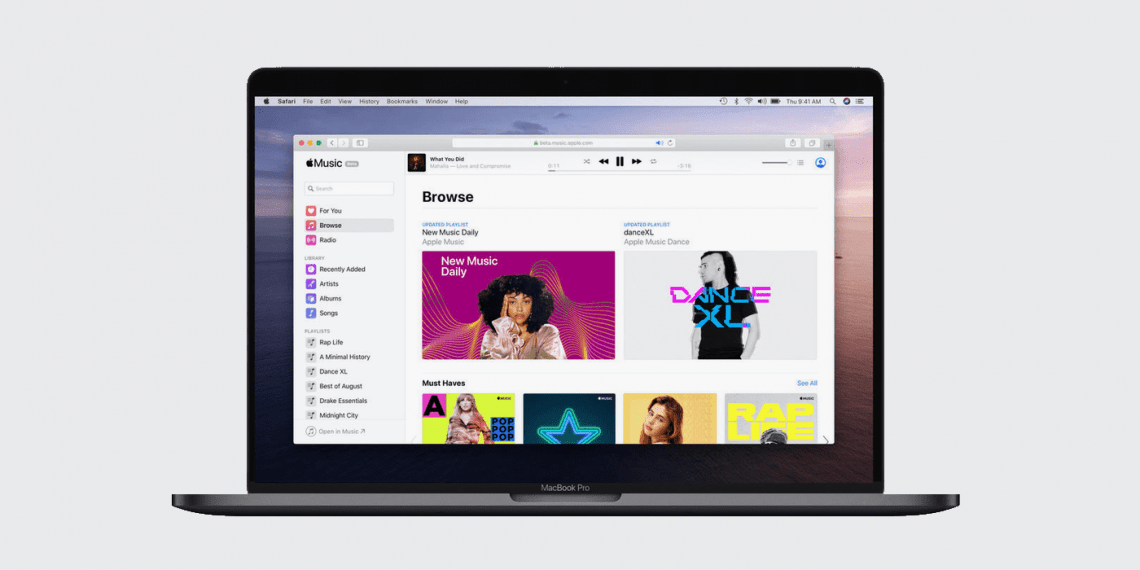 Apple запустила полноценную веб-версию Apple Music