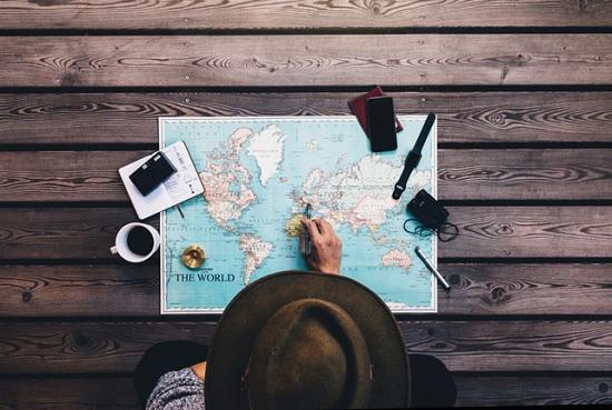 Опубликована карта с датами открытия стран для туристов