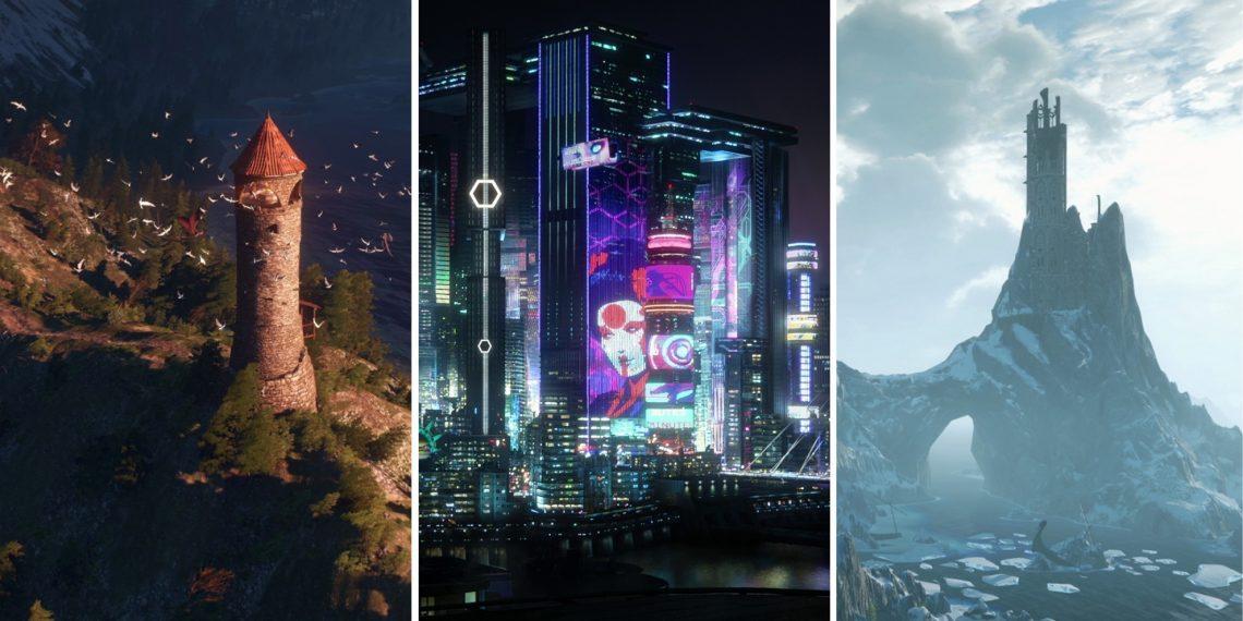 Фоны для Zoom из «Ведьмака» иCyberpunk 2077
