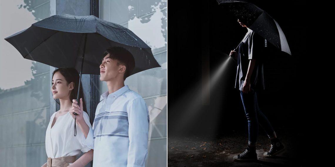Xiaomi представила автоматический зонт с фонариком