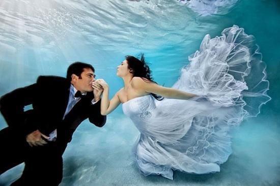 Креативная помолвка двух влюблённых на самом дне Красного моря в Египте