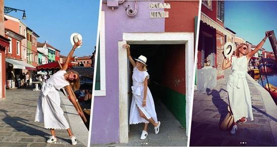 Юлия Высоцкая путешествует по опустевшим улицам Венеции, покинутых туристами