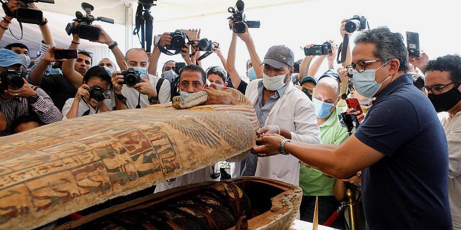 В Египте обнаружили 59 саркофагов с мумиями