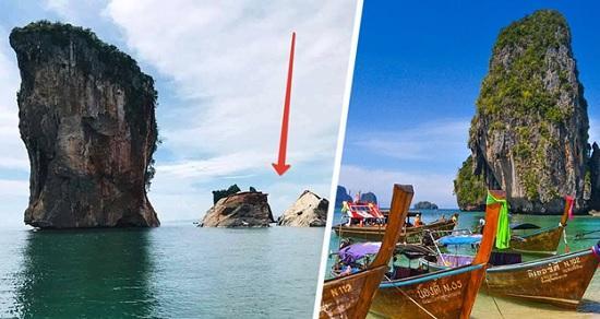В Таиланде катастрофа – достопримечательность Пхи — Пхи обвалилась прямо в море