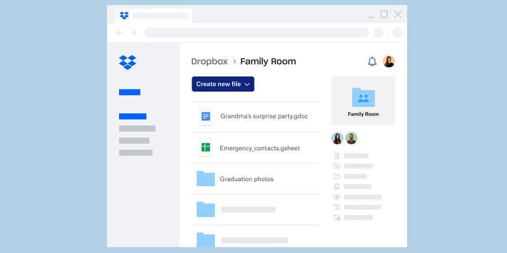 В Dropbox появился семейный план для 6 пользователей