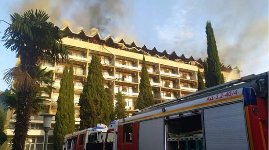 «Санаторий Ялта в Крыму сгорел!» — срочная новость