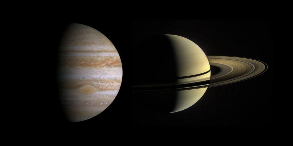 Фото: Юпитер и Сатурн сблизились на звёздном небе