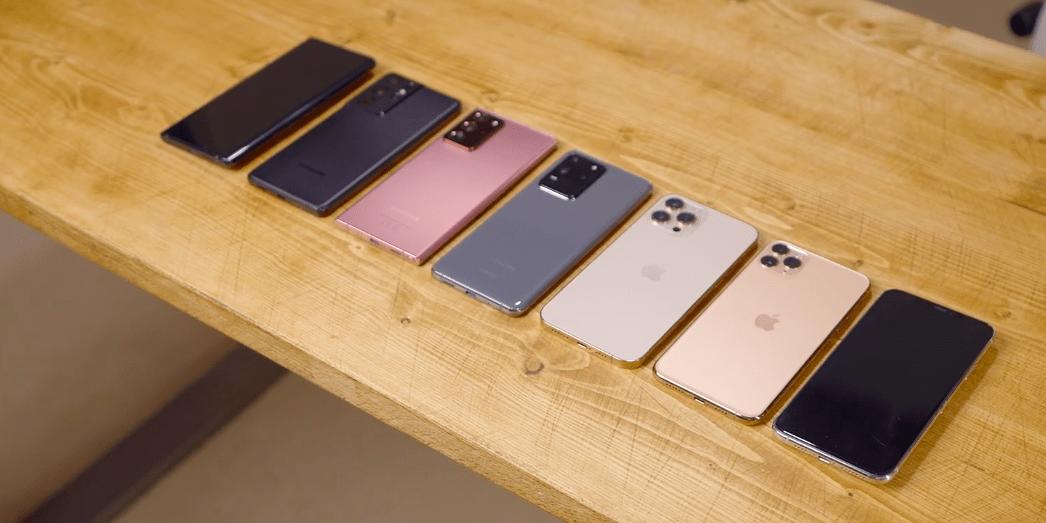 Сравнение автономности топовых Galaxy и iPhone