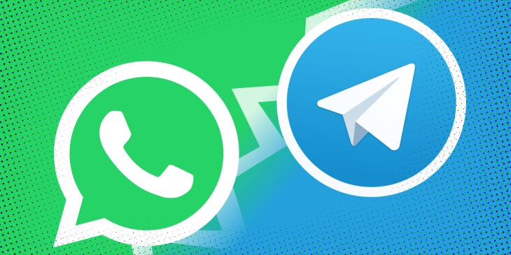 Telegram научился переносить переписку из WhatsApp