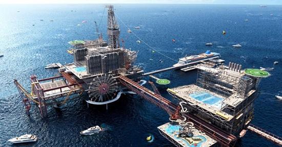 Отель на нефтегазовой платформе в Саудовской Аравии. Проект развлекательного комплекса готов к запуску